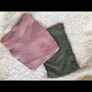 Set of Victoria's Secret PINK tube tops sized Xs
